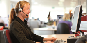 A Service Centre team member answering a call